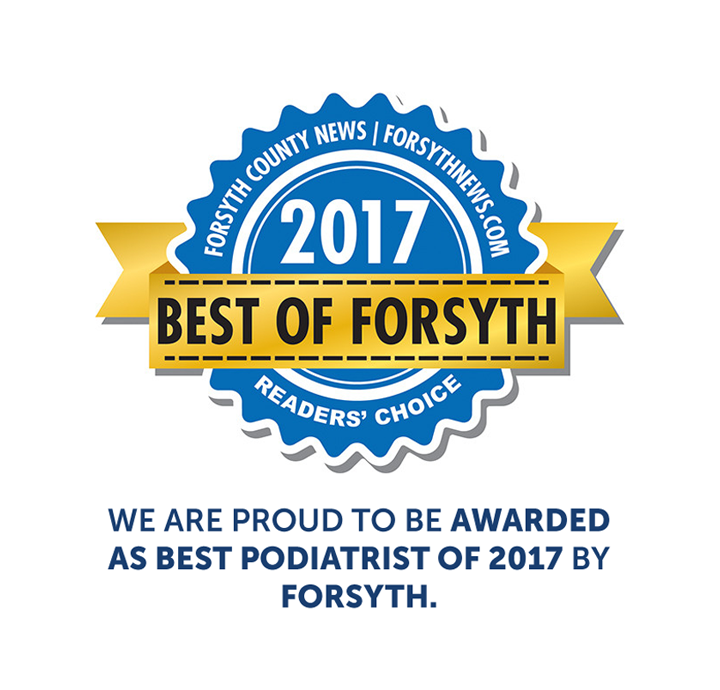 We are proud to be awarded as Best Podiatrist of 2017 by FORSYTH.